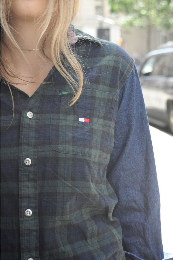 Tommy Hilfiger Colorblock Plaid Button Down