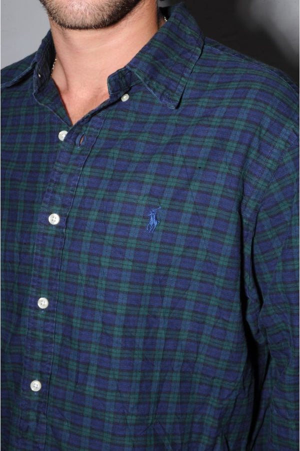 Ralph Lauren Navy Plaid Button Down