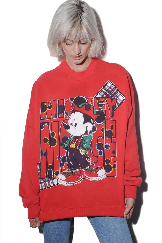 Mickey Mouse Red Sweatshirt