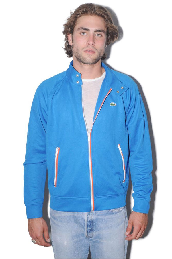 Blue Lacoste Zip Up Sweater
