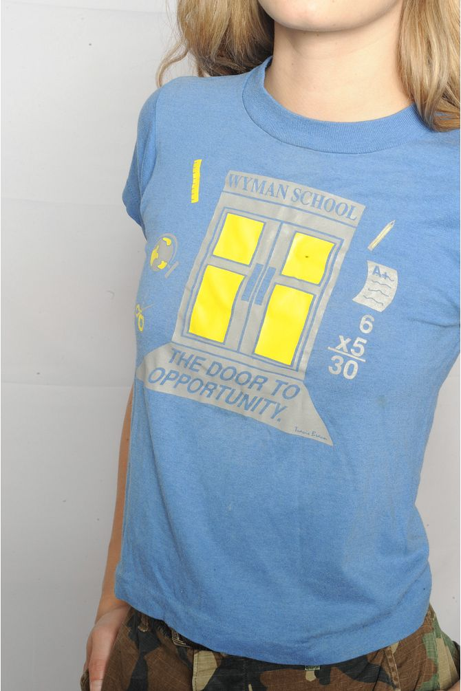 Blue Wyman School Tee