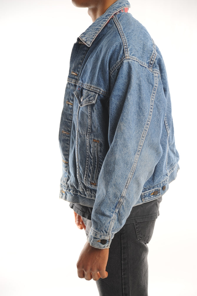 Levi's Plaid Lined Denim Jacket