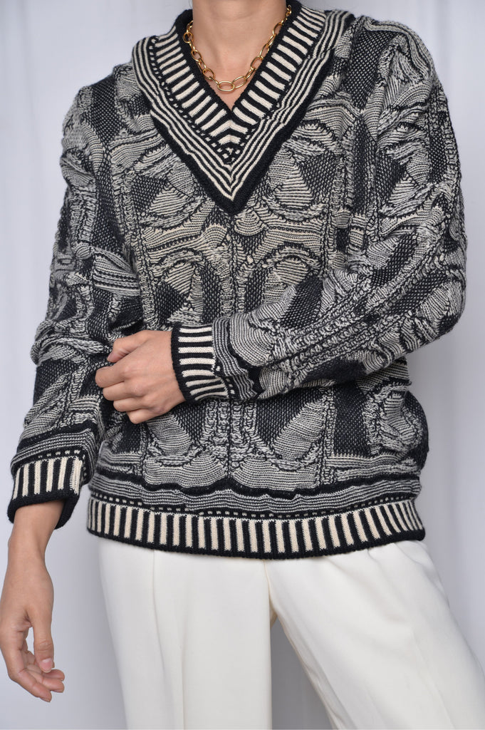 Black and White Coogi Sweater