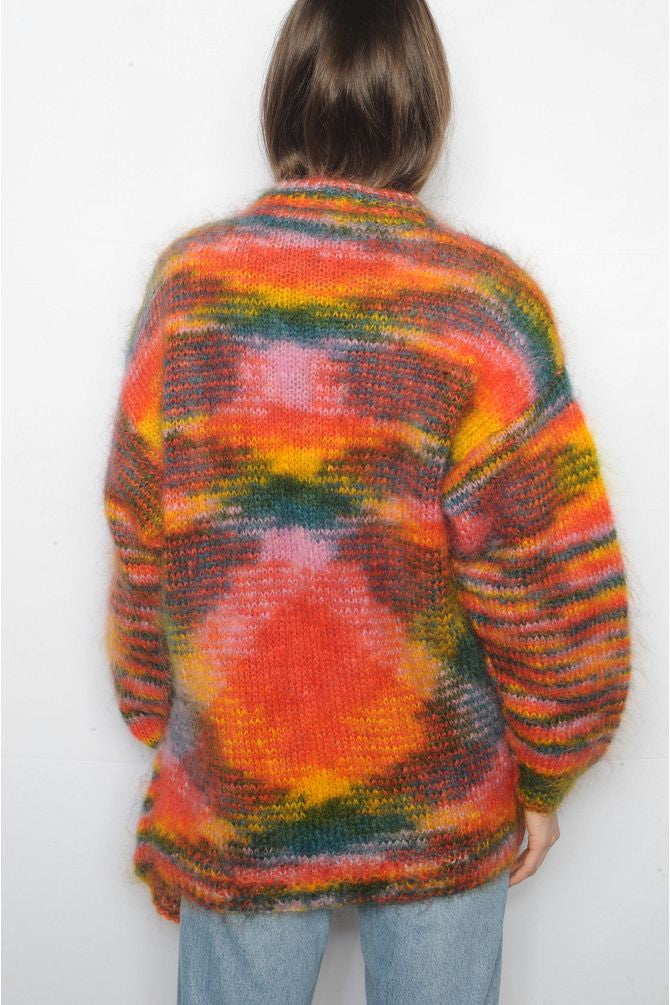 Colorful Mohair Cardigan