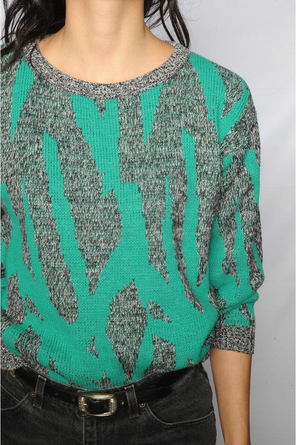 Green Abstract Sweater