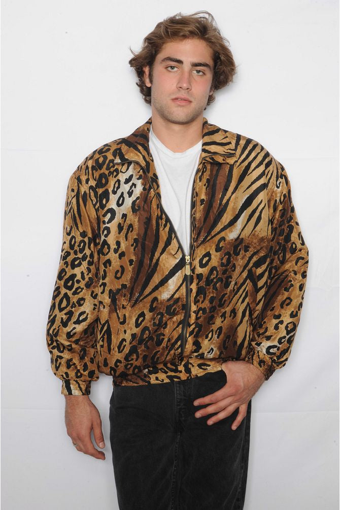 Leopard Silk Windbreaker