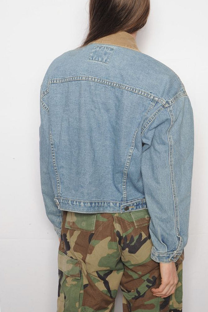 Corduroy Collar Denim Trucker Jacket
