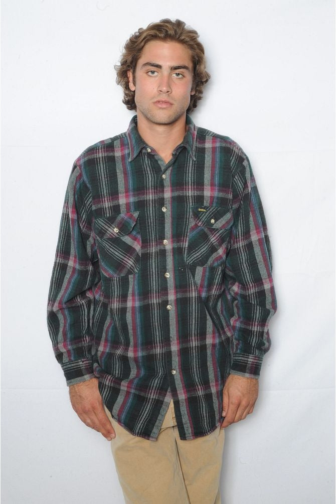 Green Osh Kosh Flannel Shirt