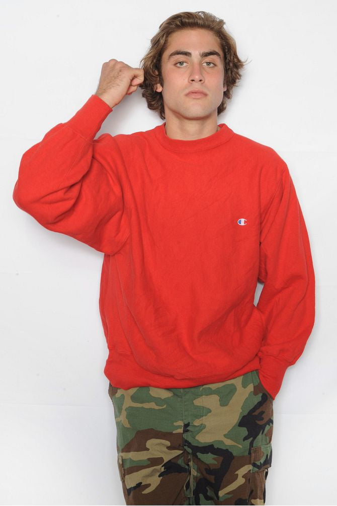 Red Champion Sweatshirt