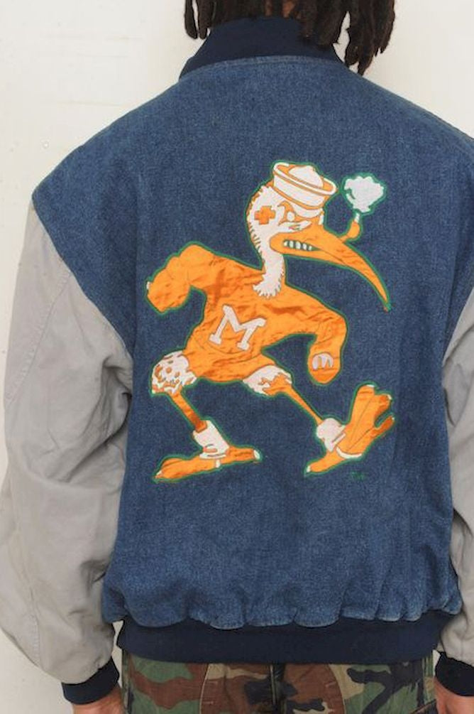 University of Miami Denim Bomber