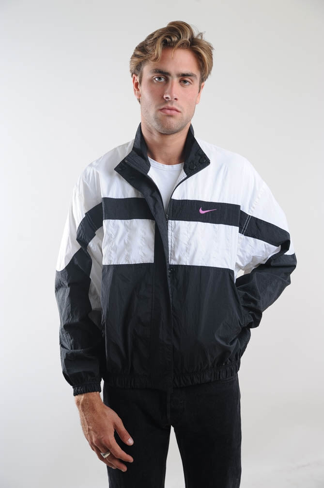 Nike Black and White WIndbreaker