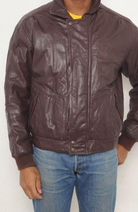 Members Only Leather Bomber