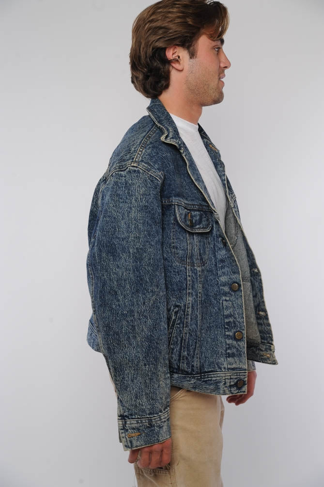 Lee Acid Wash Dark Denim Jacket