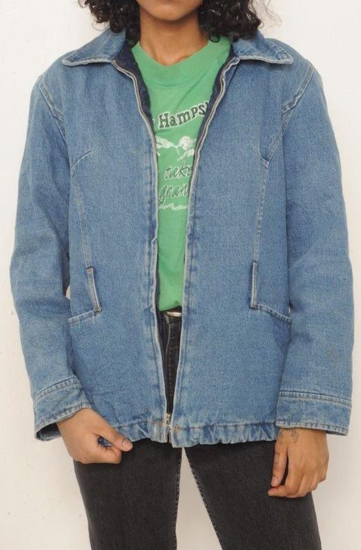 Quilted Lined Denim Jacket