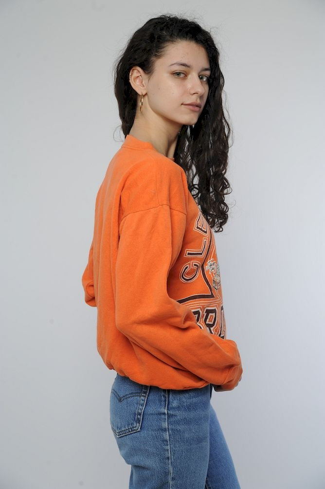 Orange Cleveland Browns Sweatshirt