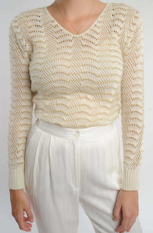 Knit Gold Detail Sweater