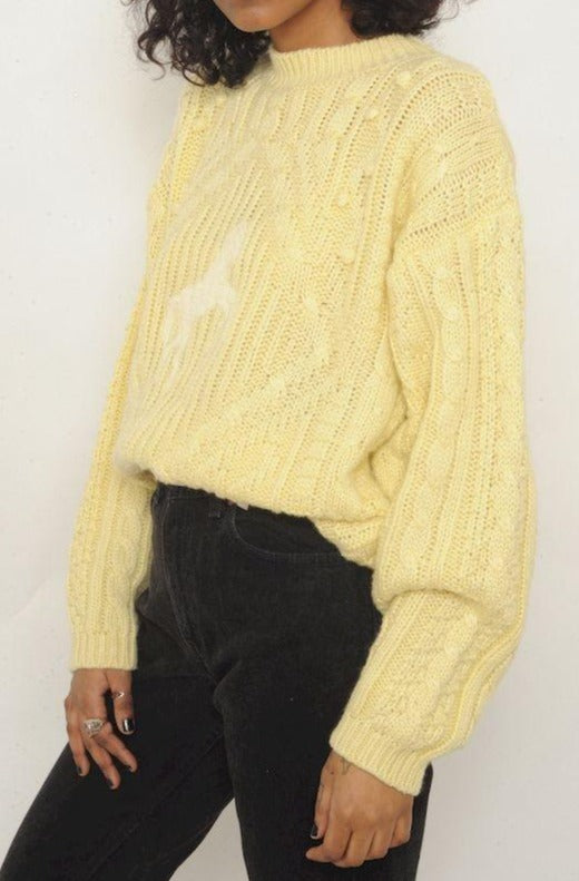 Yellow Horse Sweater