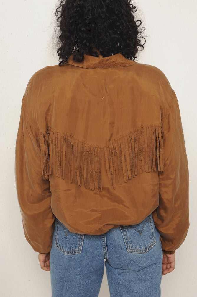 Fringe Silk Jacket