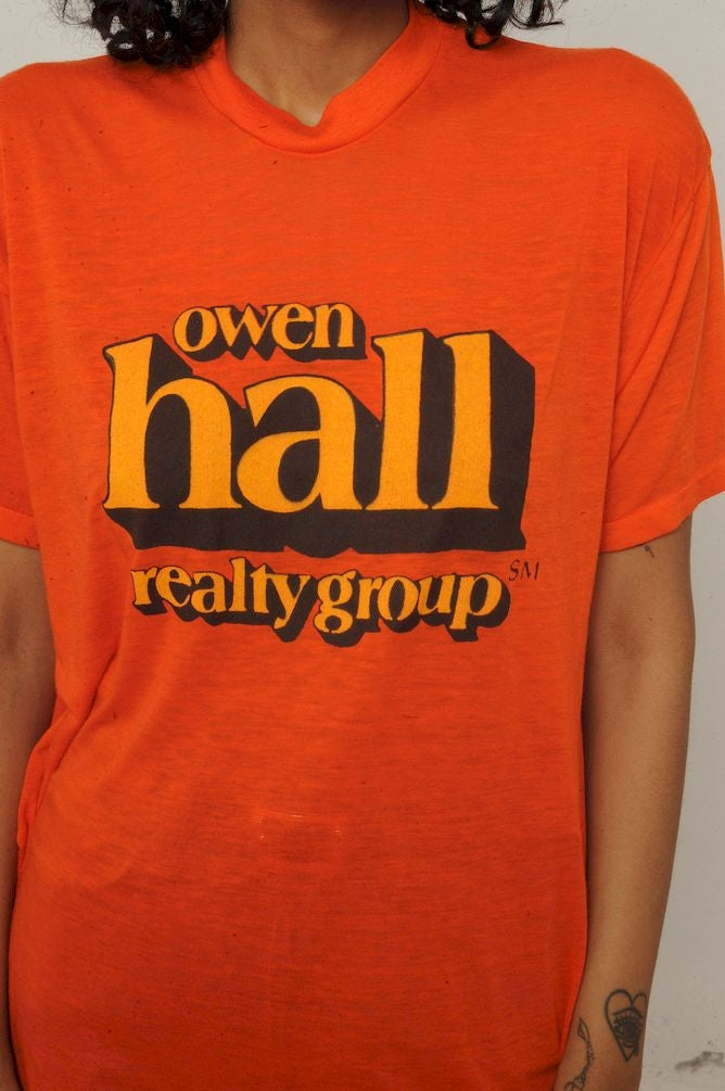 Orange Owen Hall Tee