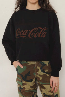 Black Coca Cola Sweatshirt