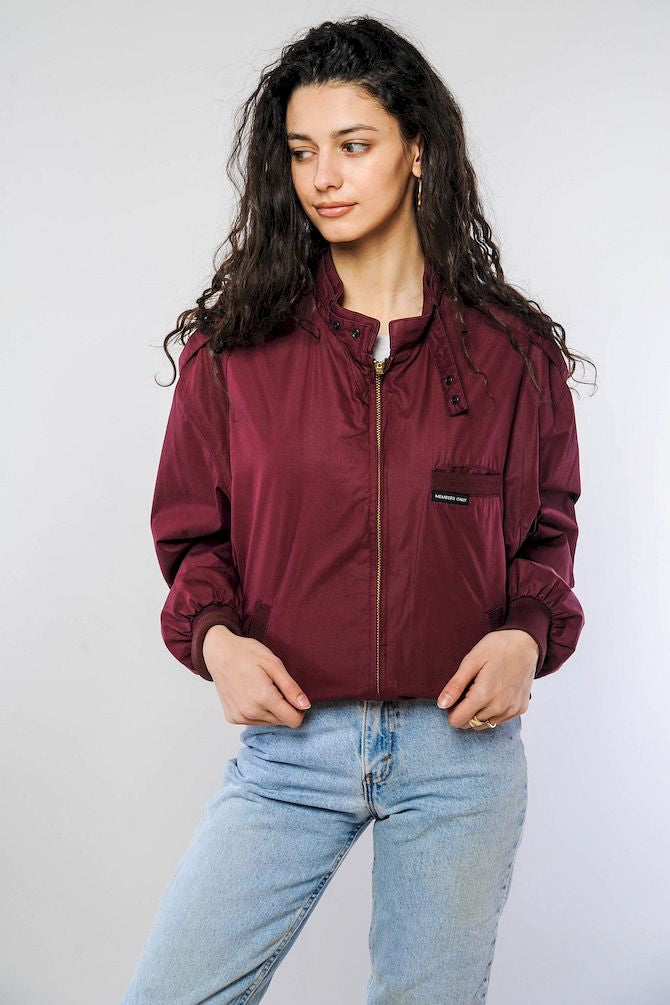 Maroon Member's Only Jacket
