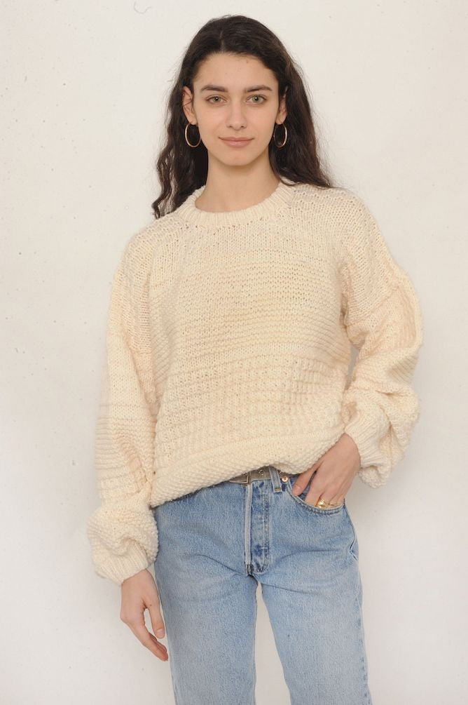 Ivory Grandpa Sweater