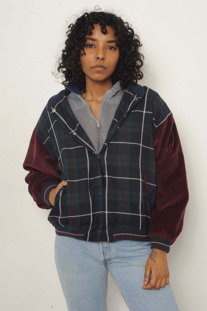 Guess Plaid and Corduroy Jacket