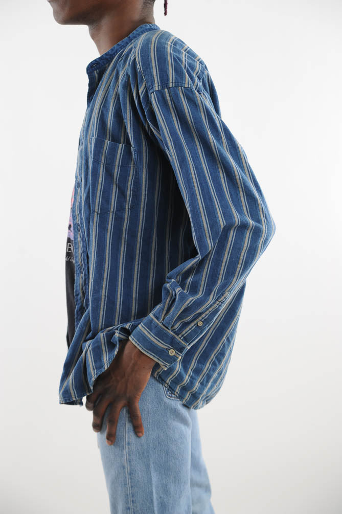 Dockers Denim Striped Button Down