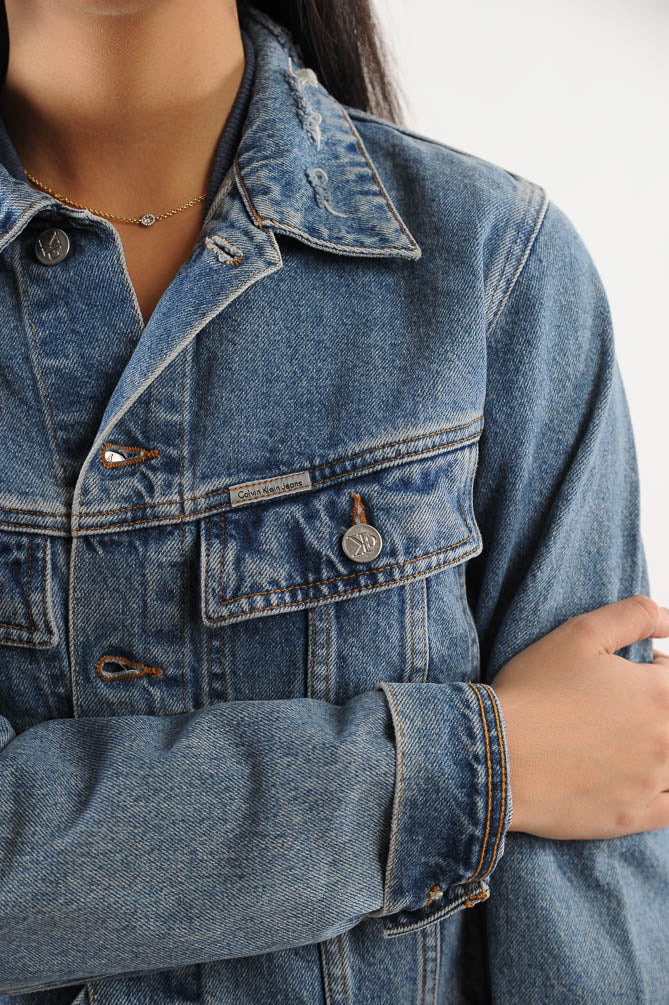 Calvin Klein Cropped Denim Jacket