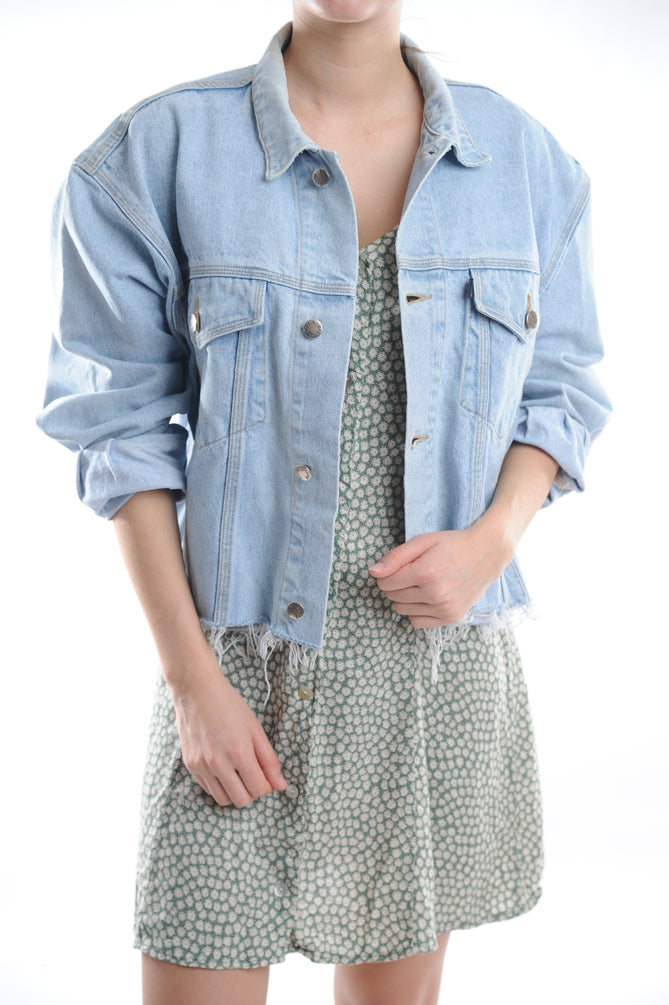 Cropped Light Denim Jackets
