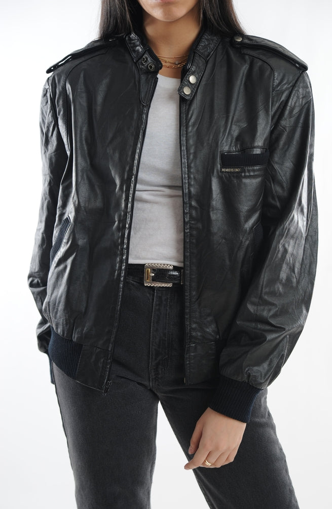 Member's Only Leather Bomber