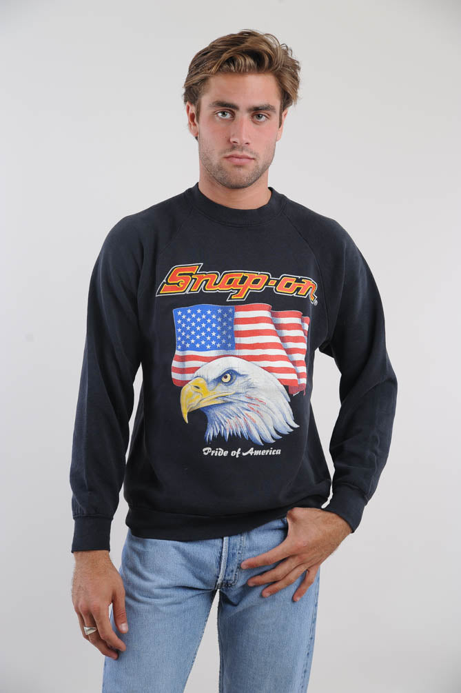 Black American Eagle Sweatshirt
