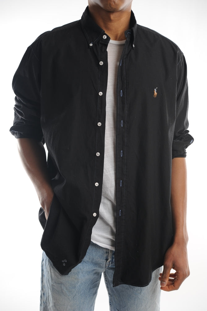 Ralph Lauren Black Button Down