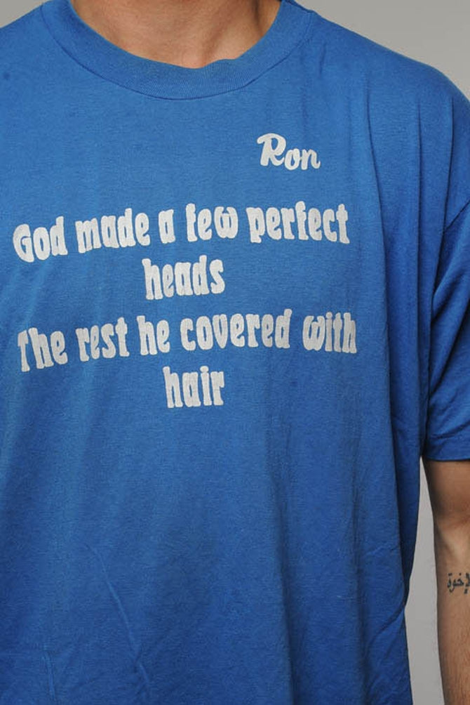 Blue Perfect Heads Tee