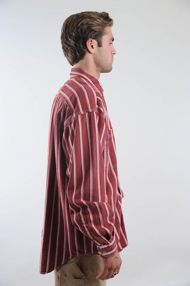 Levi's Red Striped Button Down