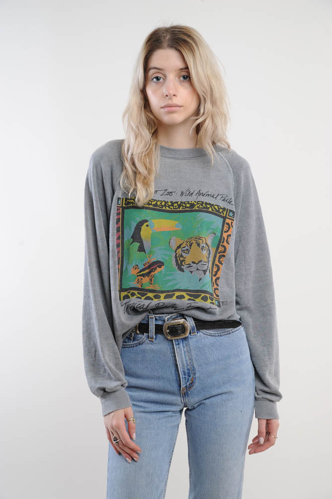 Gray San Diego Zoo Sweatshirt