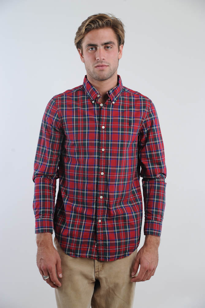 Ralph Lauren Red Plaid Button Down Shirt