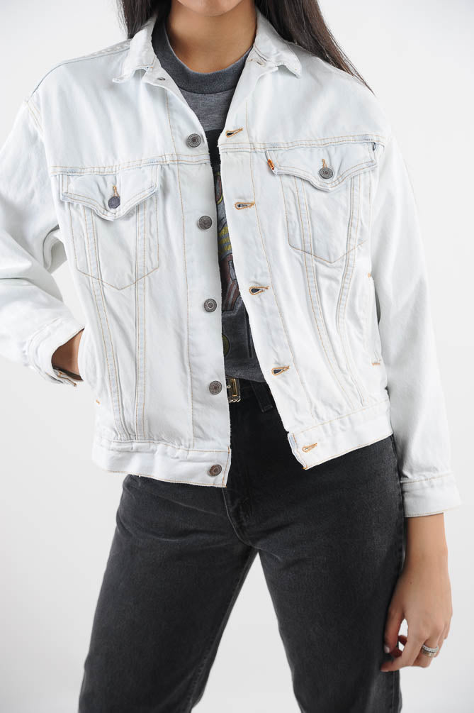 Levi's White Denim Jacket