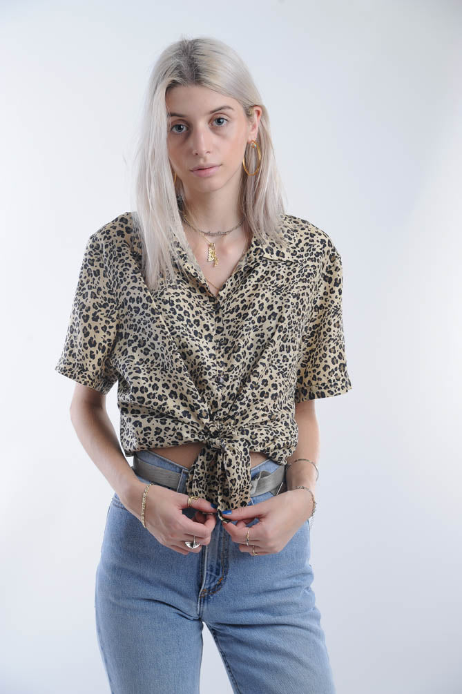 Silk Leopard Blouse