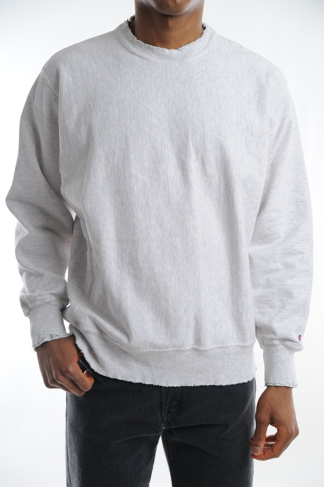 Champion Reverse Weave Distressed Sweatshirt