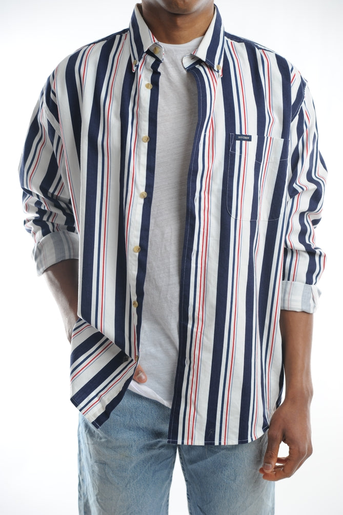 White Striped Button Down