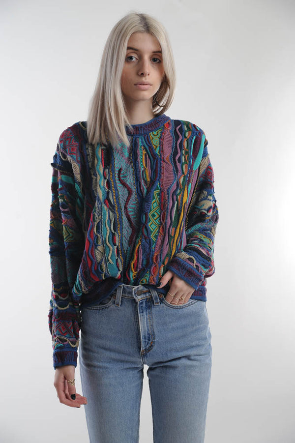 Abstract Retro Sweater