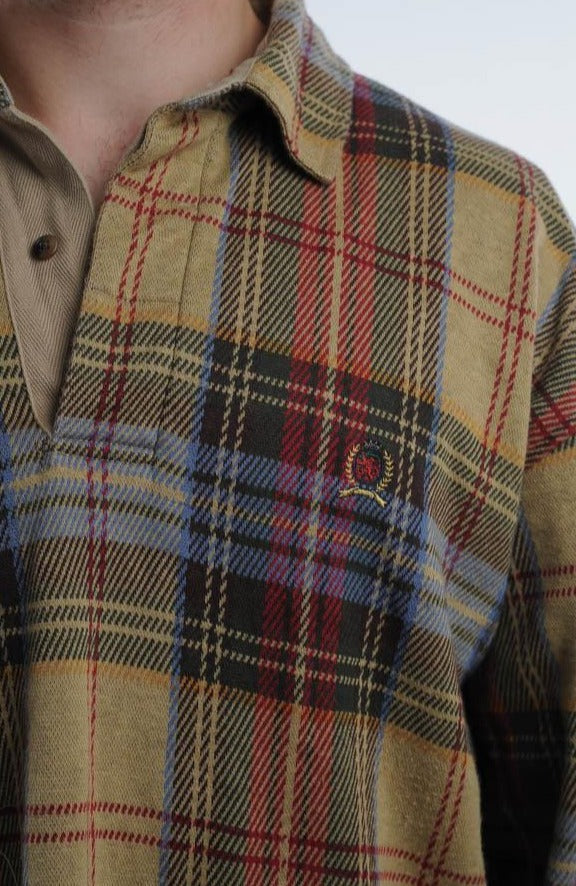 Tommy Hilfiger Plaid Collared Sweater