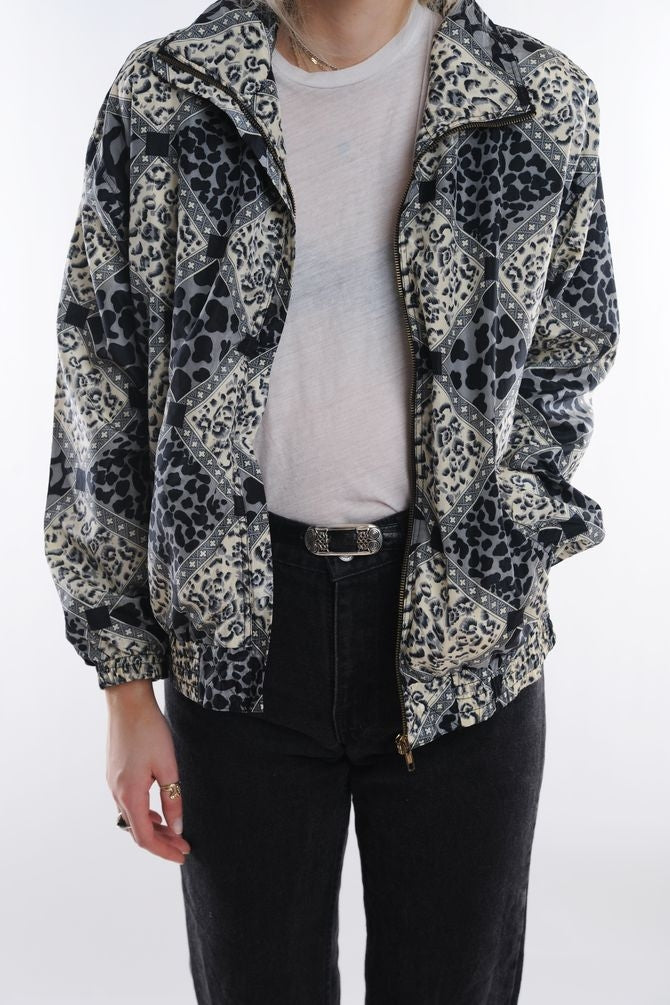 Multi Animal Print Windbreaker