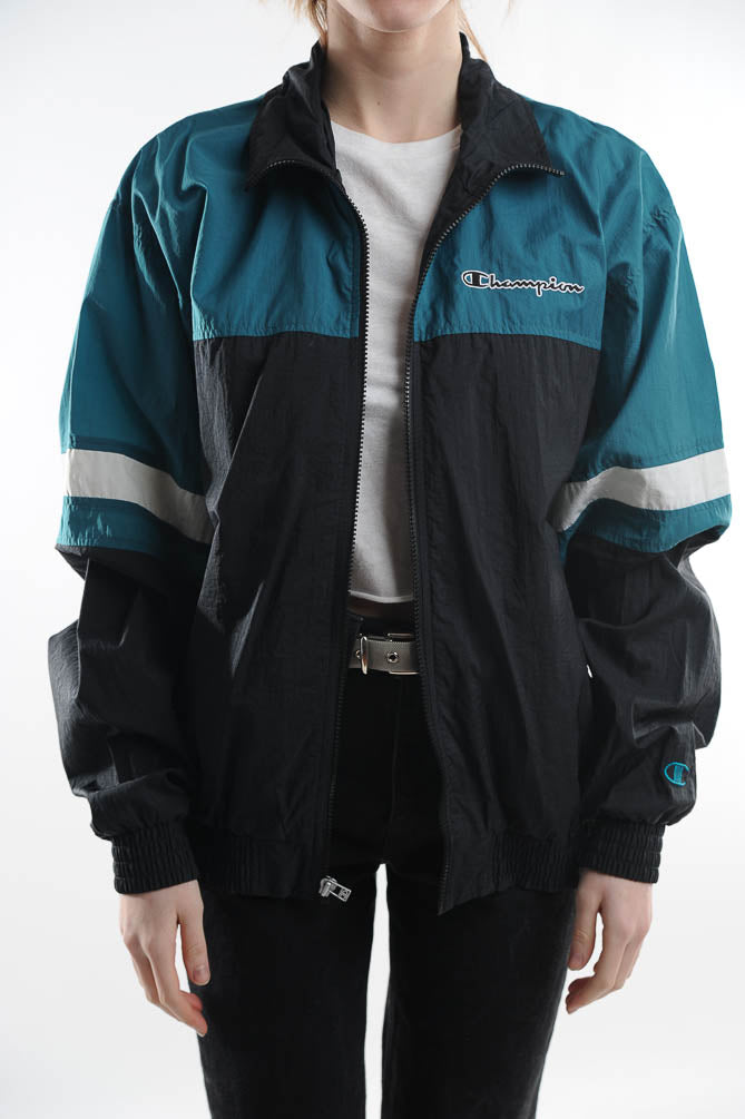 Champion Blue Colorblock Windbreaker