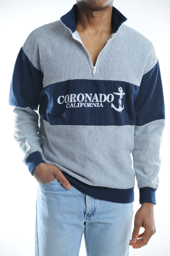 Coronado California Striped Sweatshirt