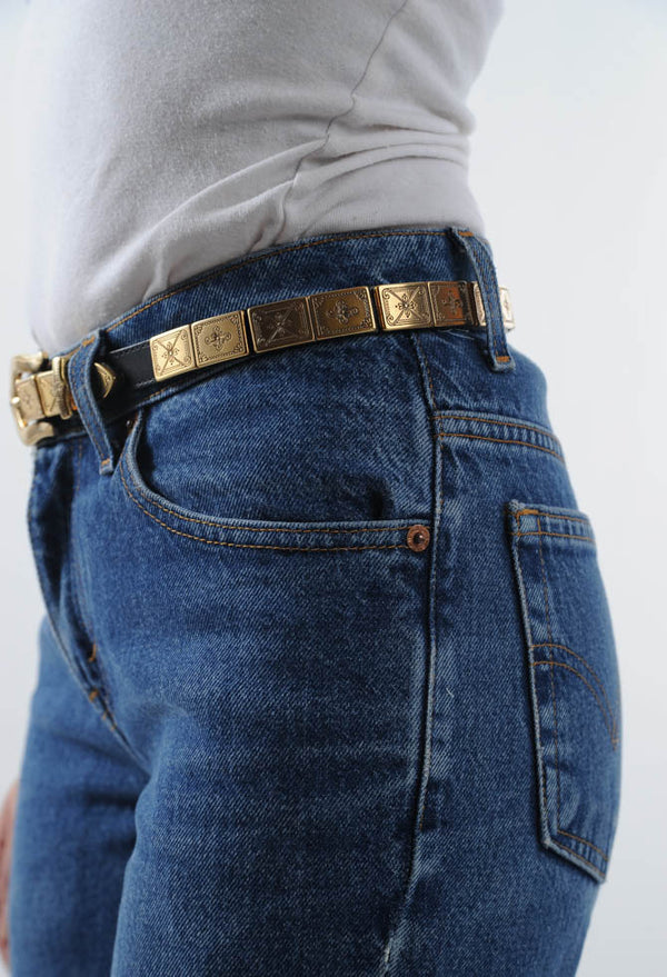 Leather Metal Belt