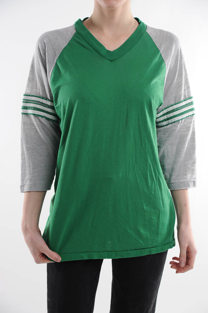 Green Colorblock Tee