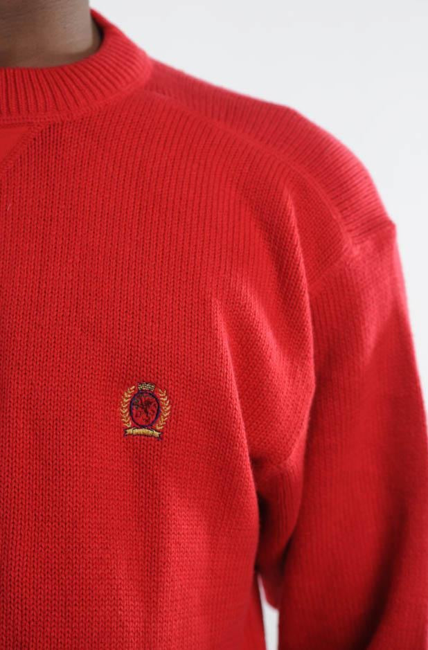 Red Tommy Hilfiger Sweater