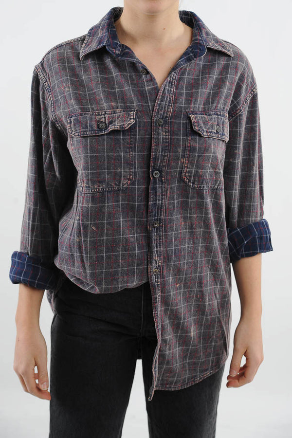 Faded Gray Flannel Shirt